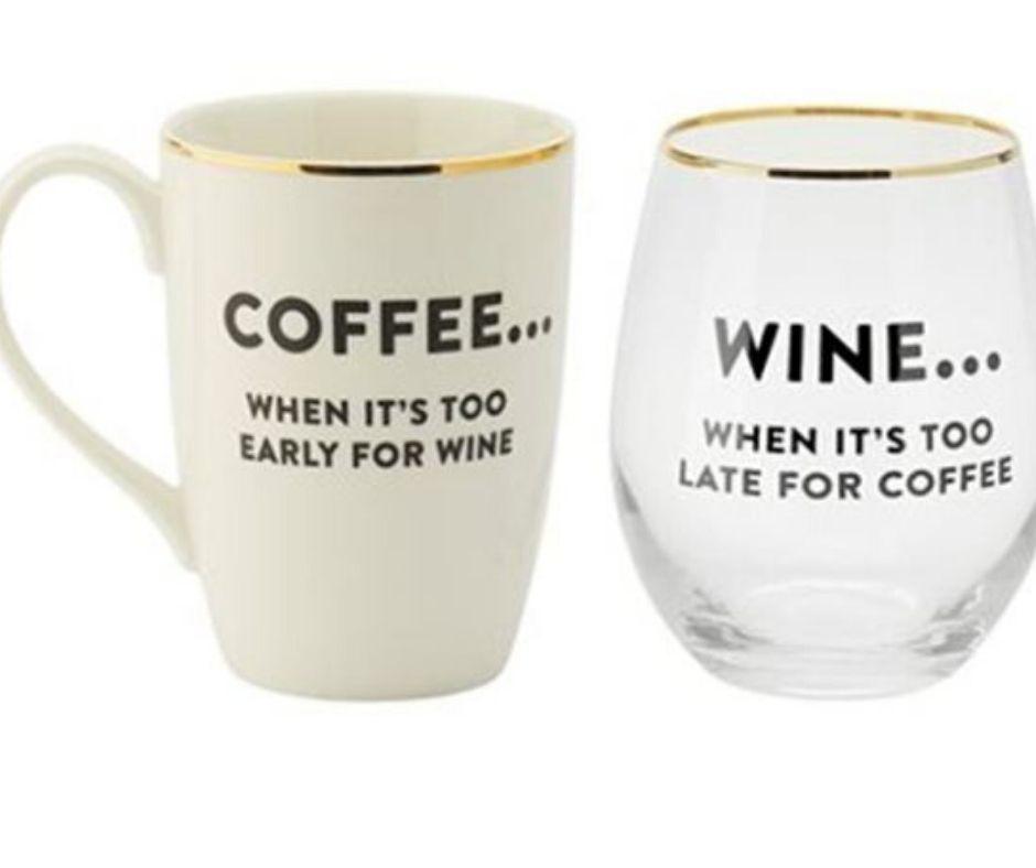 Coffee & Wine Glass Gift Set