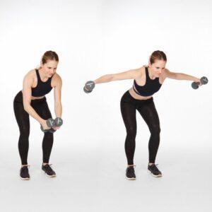 Back Exercises with Dumbbells; Delt Raises