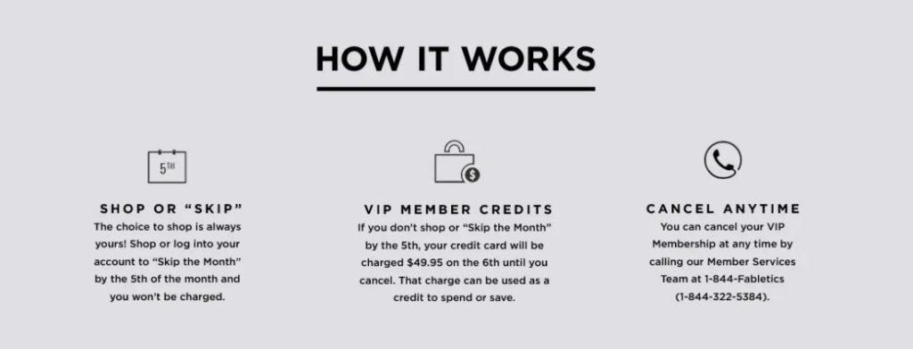 Fabletics VIP