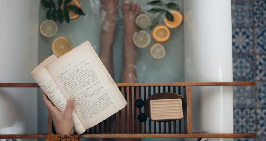Self-Care routine can include a relaxing  bath.