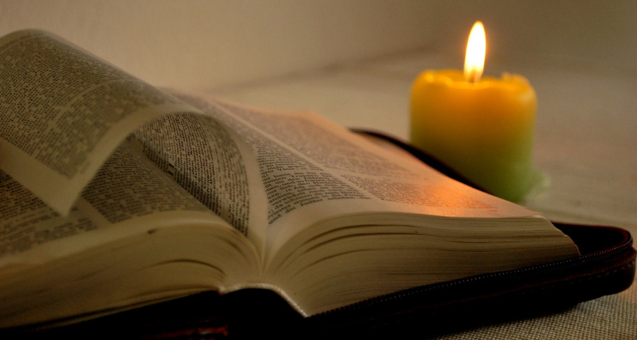 A good book and a lit candle is a great from of self-care.