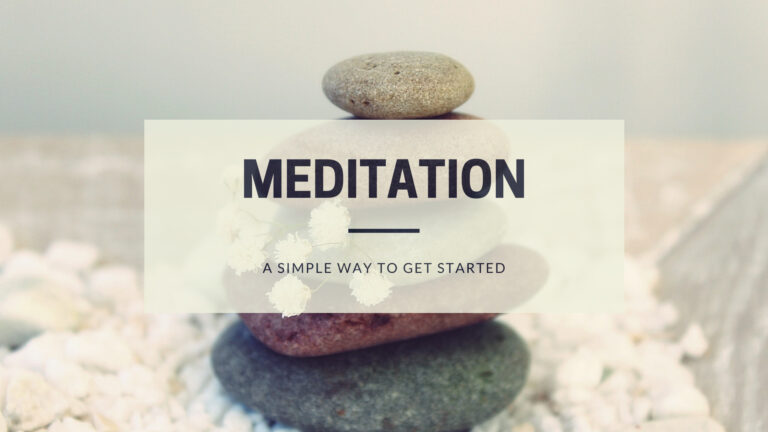 Meditation a simple way to get started
