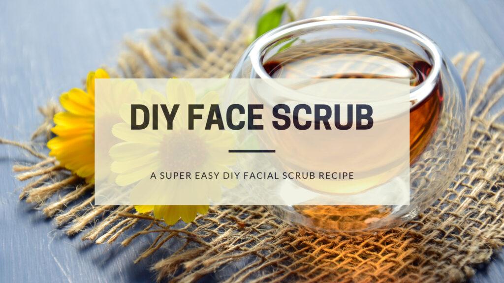 DIY Face Scrub with honey and cinnamon